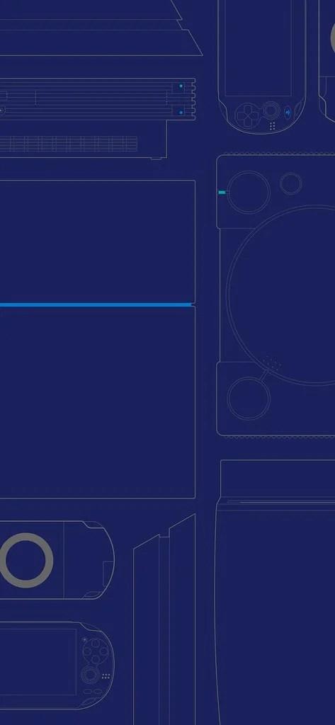 #25YearsOfPlay Wallpaper: Mobile - Blue