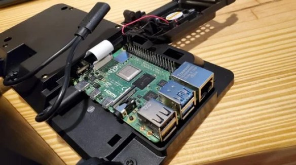 Keg Punk Raspberry Pi inside the screen casing
