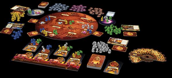 Aufbruch zum Roten Planeten - Spielmaterial