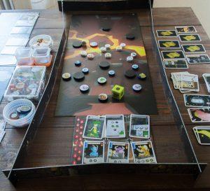 Brettspiel Katakomben Spielaufbau