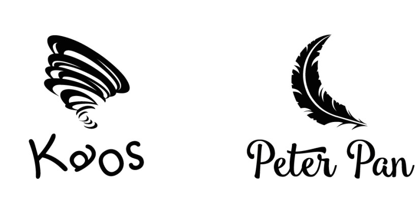 Schriftbildmarke Kaos und Peter Pan