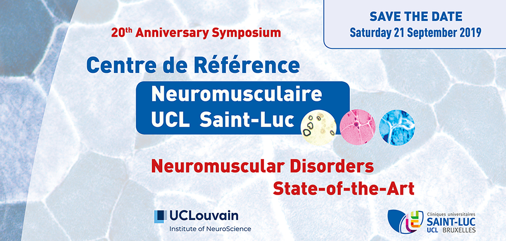 save-the-date-centre-reference-neuromusculaire-UCL-Saint-Luc-mail Symposium 20th anniversary CRNM UCL-Saint-Luc