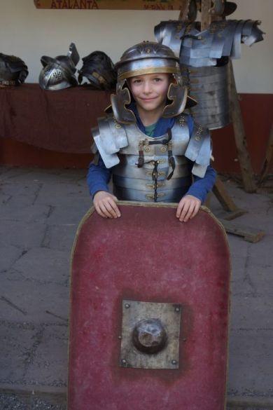 Als Romeins soldaat.