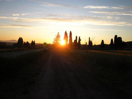 Sunrise over Navarrete.