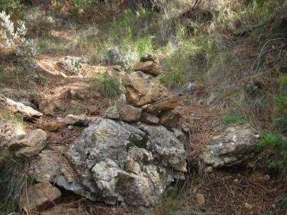 Thank you to the people that place these cairns, this path was so hard to follow.