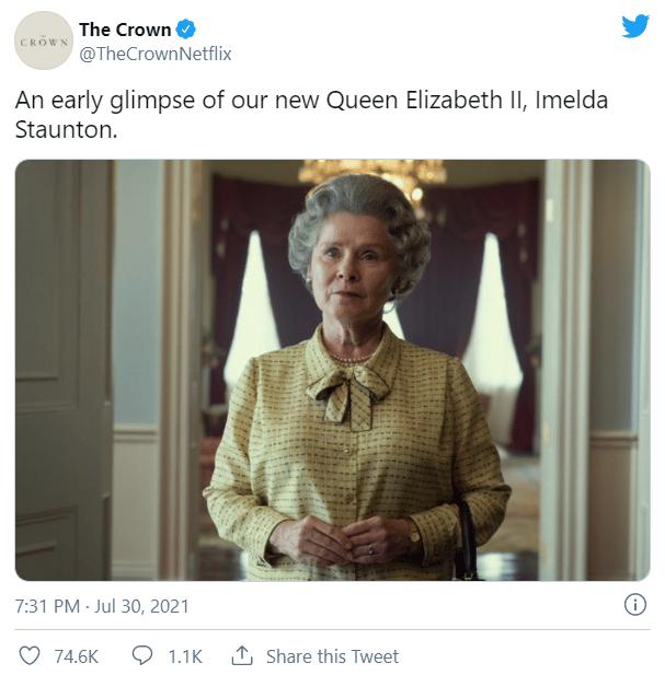 Imelda Staunton As Queen Elizabeth II