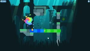 Okay, den blå slangefuglen kan nå målet, men den grønne er dødsdømt. Her må vi finne en annen løsning.