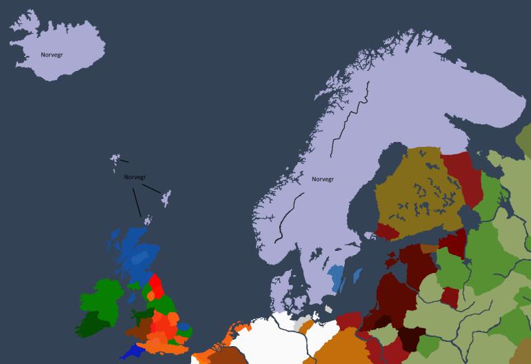 Norgesveldet ved Ragnarr Is død.