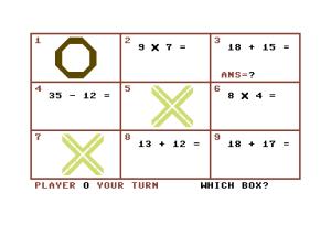 Tic Tac Maths på Commodore 64.