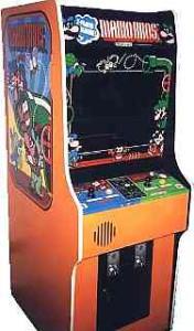 Mario Bros arkadekabinett i den klassiske Nintendo stilen. www.arcade-museum.com