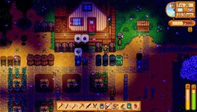 Her er litt av gården min på kveldstid.