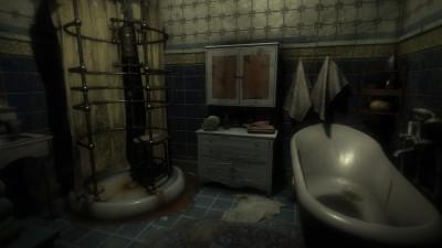 Iik! Det er en slendermann i dusjen! Eller vent, det var visst bare rør og noe skyggegreier.