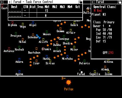 Stjernekartet på Amiga.