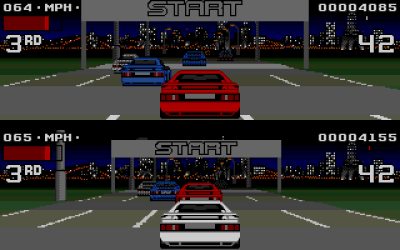 Lotus II har også delt skjerm.