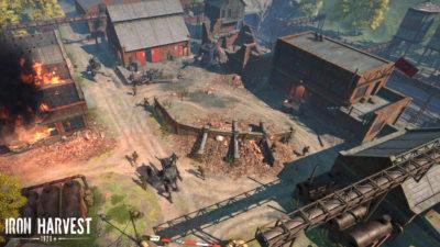 Skjermbilde fra Iron Harvest.