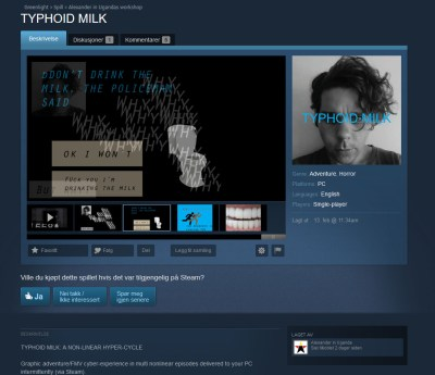 Dette har en person betalt 100 dollar for å få ut på Greenlight. Om han var garantert Steam-utgivelse, tror du han hadde betalt litt mer da?