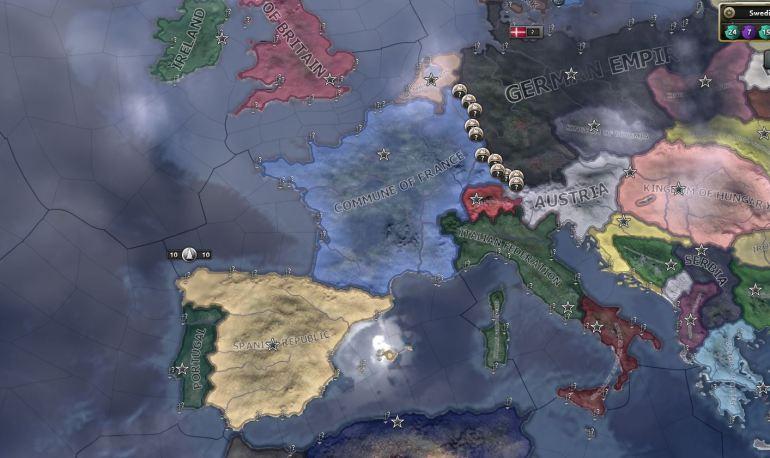 Europa i flammer.