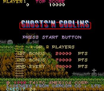 Ghosts 'n Goblins er et vrient spill.