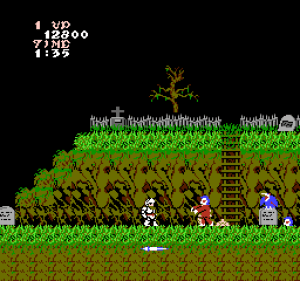 Slik er spillet på NES.