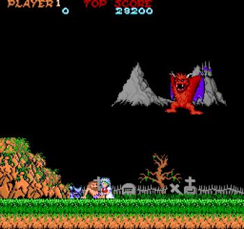 Piknik på kirkegården. Det går som det må gå. Dette bildet er fra Amiga-versjonen.