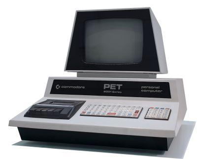 Commodore PET. Foto: Tomislav Medak from Flickr / Redigering: Bill Bertram (Pixel8) - info i bunnen av artikkelen.