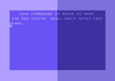 C64 Forever til venstre, min foretrukne palett til høyre. Jeg har ikke funnet noen måte å endre dette i konfigurasjonen.