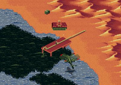 I den virkelige krigen startet irakerne en av historiens største oljelekkasjer, visstnok for å gjøre det vanskeligere å angripe fra sjøen (Amiga).