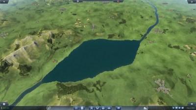 Dette er de største innsjøene i spillet, ellers er man begrenset til elver hvis man vil bruke skip.
