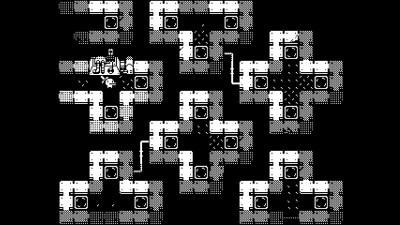 Spillet bruker kun sort og hvitt.