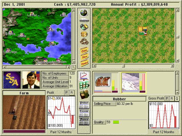 Funfact til slutt: Capitalism Plus ble utgitt av I-Magic, en spillutgiver drevet av Microprose-grunnlegger Bill Stealey. Han er med som en toppleder i spillet.