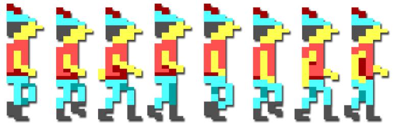 Grahams gå-animasjon.