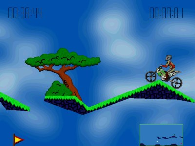 Elasto Mania hadde mer fargerik grafikk.