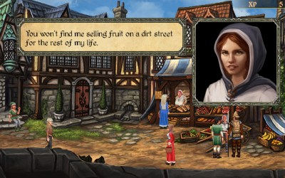 Du treffer mange ulike folk i spillets verden.