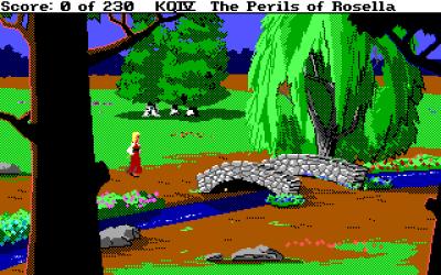 Rosella besøker mange flotte steder i løpet av eventyret.