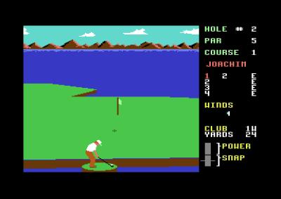 Noen ganger, når ballen havner nær vannkanten, får spilleren en liten øy å stå på.