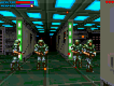 Gloom var et tidlig forsøk på å bringe Doom-opplevelsen til en standard Amiga 1200.