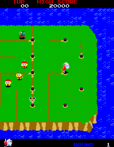 Dig Dug 2. Screenshot from Mobygames.