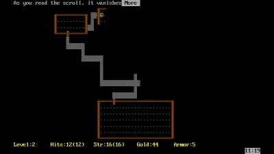 PC-versjonen av Rogue fra 1985.
