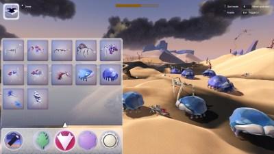 Sandkassemodus lar deg leke med spillets systemer.