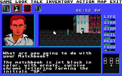 Du navigerer deg rundt i byen ved hjelp av samme system som i klassiske førstepersons-rollespill. Kart er obligatorisk.