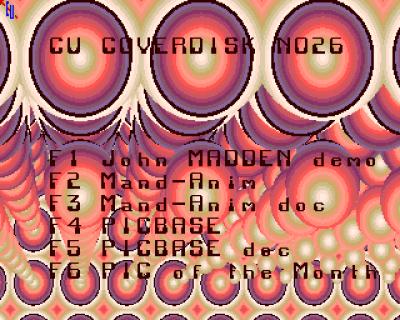 Menybildet på disk 1. Rotete, men småkult.