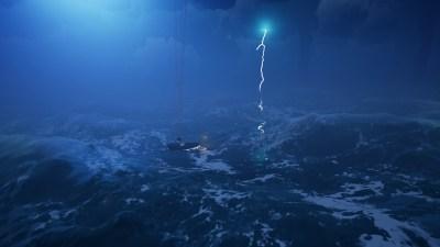 Det som ikke vises på bildet er hvor heftig det frådende havet er.