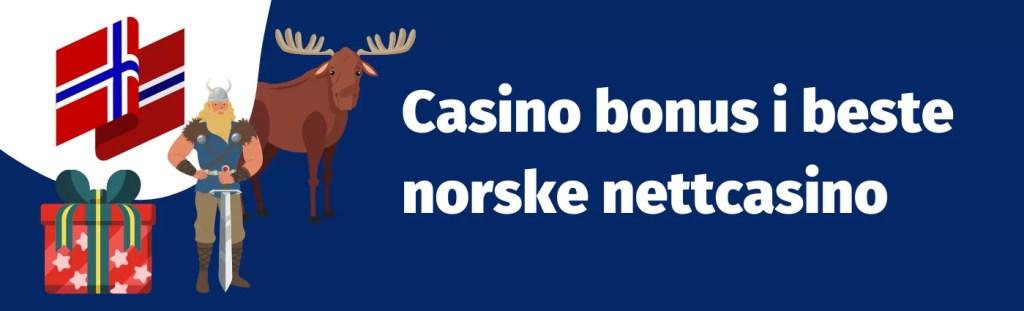 Casino bonus i beste norske nettcasino