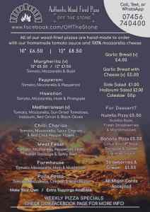 Off The Stone Spilsby Menu scaled