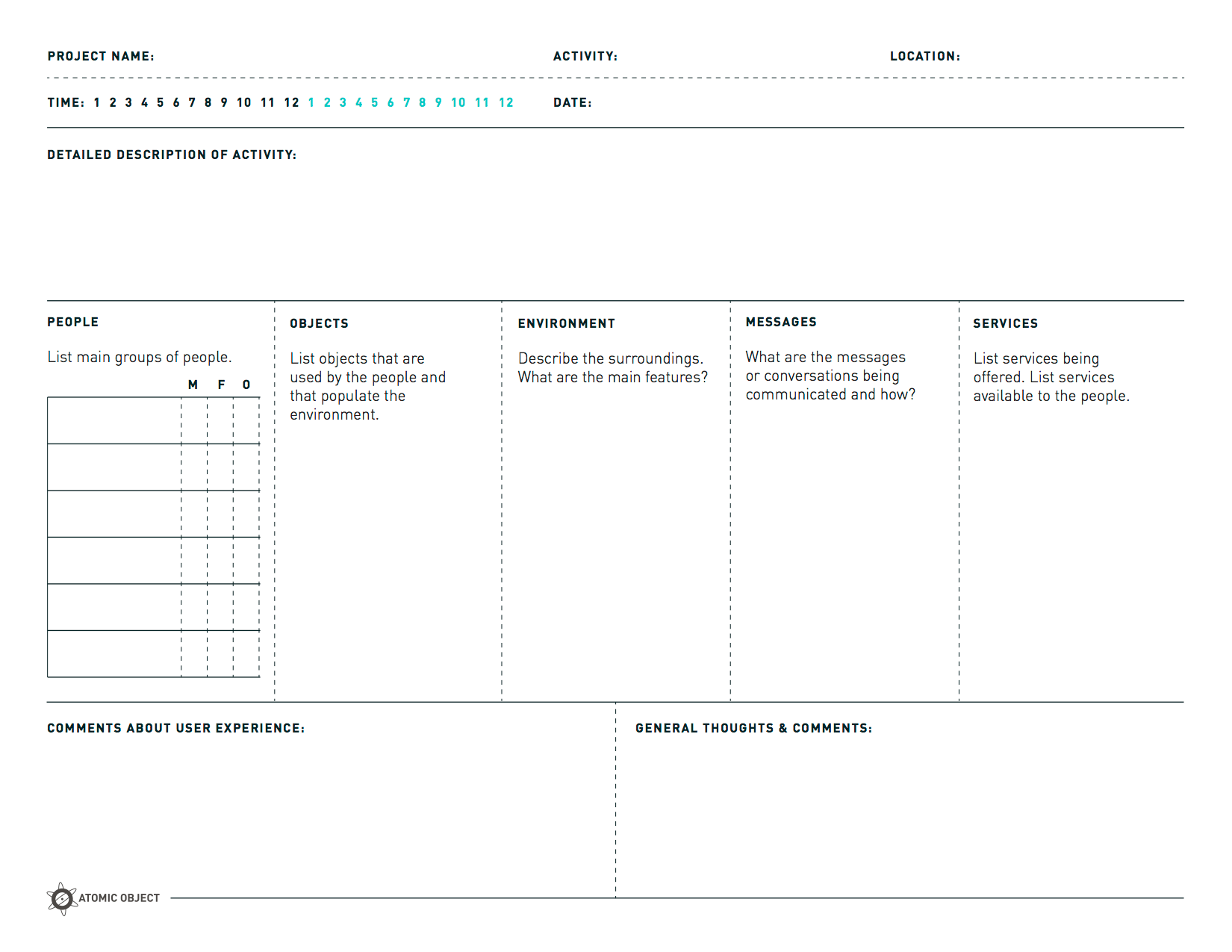 Design Thinking Worksheet