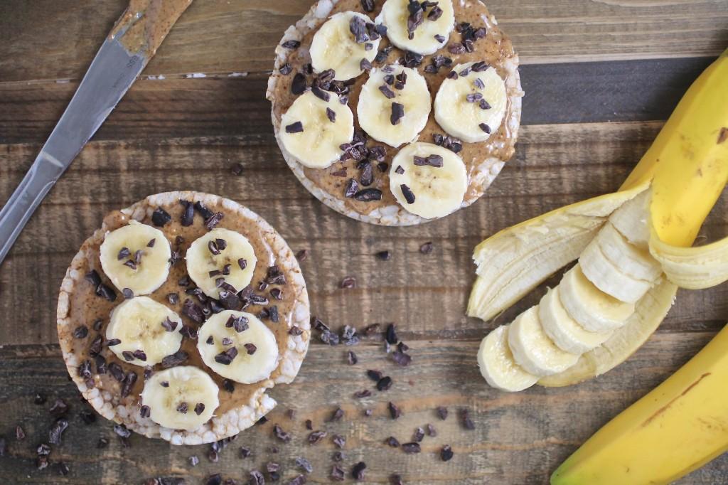 Almond Butter Banana Rice Cake