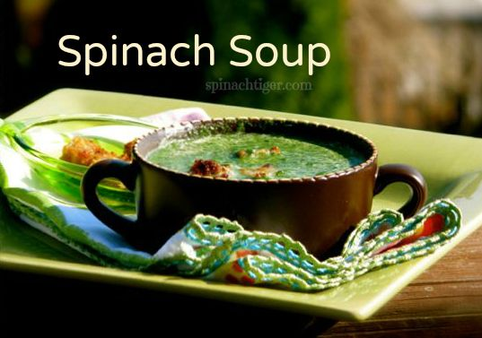 Spinach Soup by Spinach Tiger