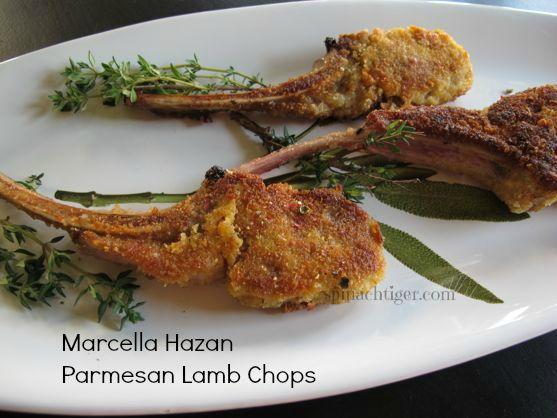 Marcella Hazan Parmesan Lamb Chops by Angela Roberts