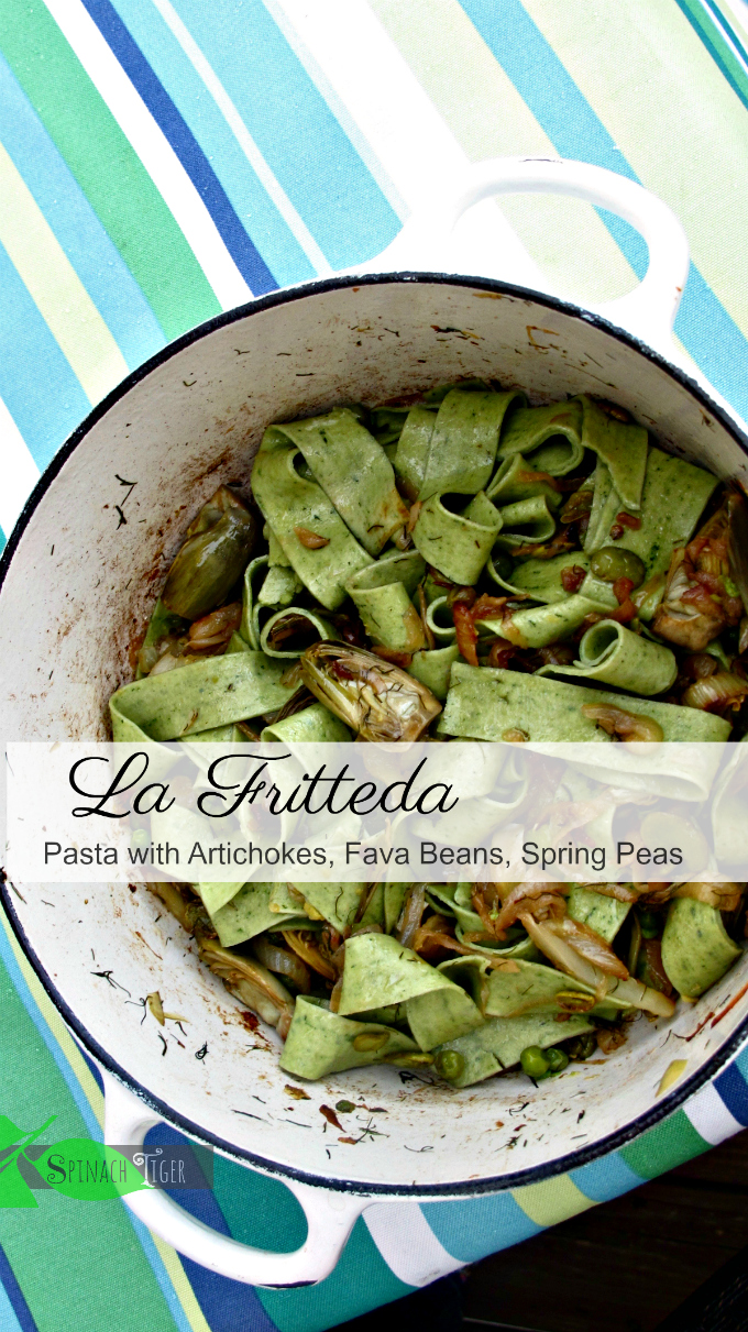 La Friteda. Classic Italian Pasta with Fava Beans and Spring Vegetables inspired by Marcella Hazan.