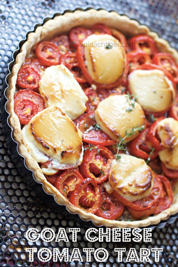 Goat Cheese Honey Tomato Tart by Angela Roberts